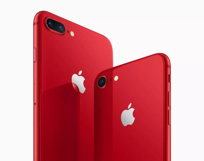 Apple iPhone 8 Plus (PRODUCT) RED angled back