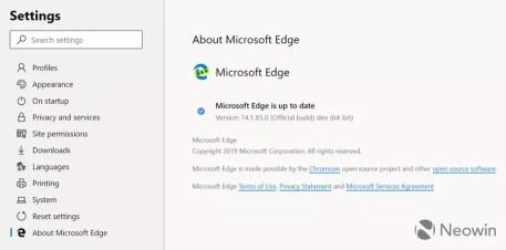 Microsoft Edge Chromium screenshot leak 3