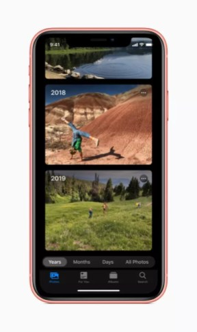 Apple ios 13 photos screen iphone xs 06032019