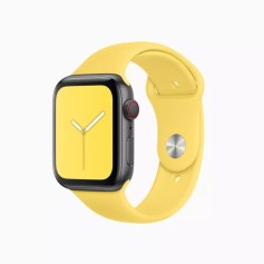 apple watchos6 summer sports band canary yellow 060319
