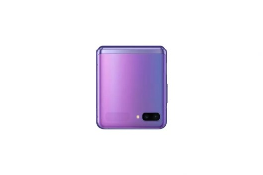 002 galaxyzflip mirror purple folded front