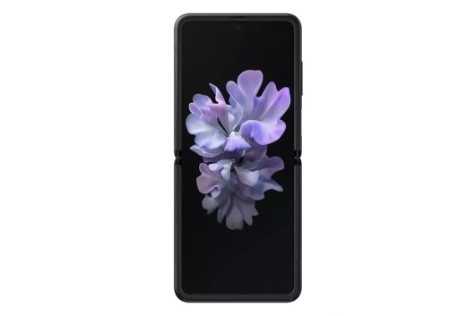016 galaxyzflip mirror black unfolded front