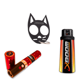 Women Safety Mush Have Combo -1 Pepper spray , Stun gun and Kitty Knuckle.