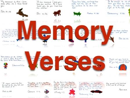 Memory Verses #1: Introduction