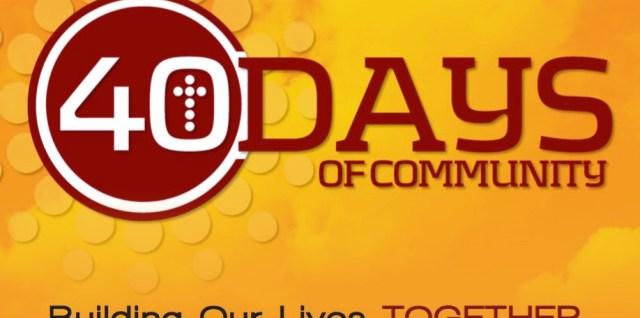40 Days of Community