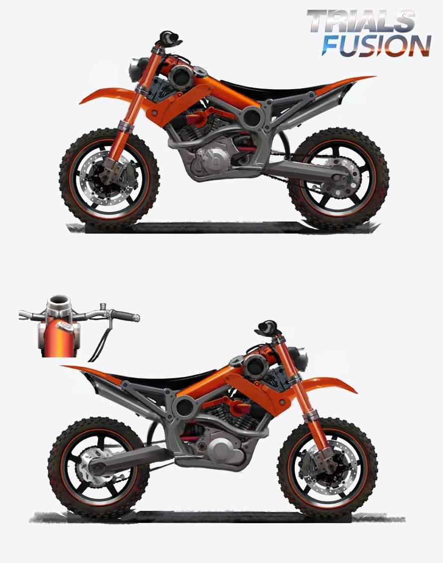 Première moto Trials Fusion