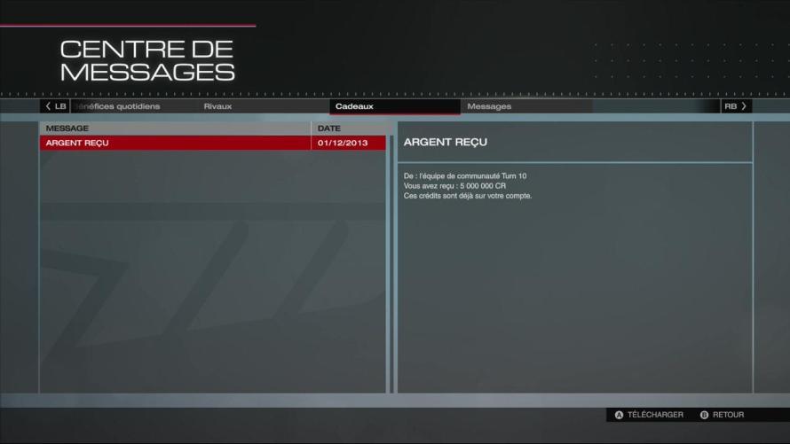 Forza Rewards du mois de décembre pour Forza 5