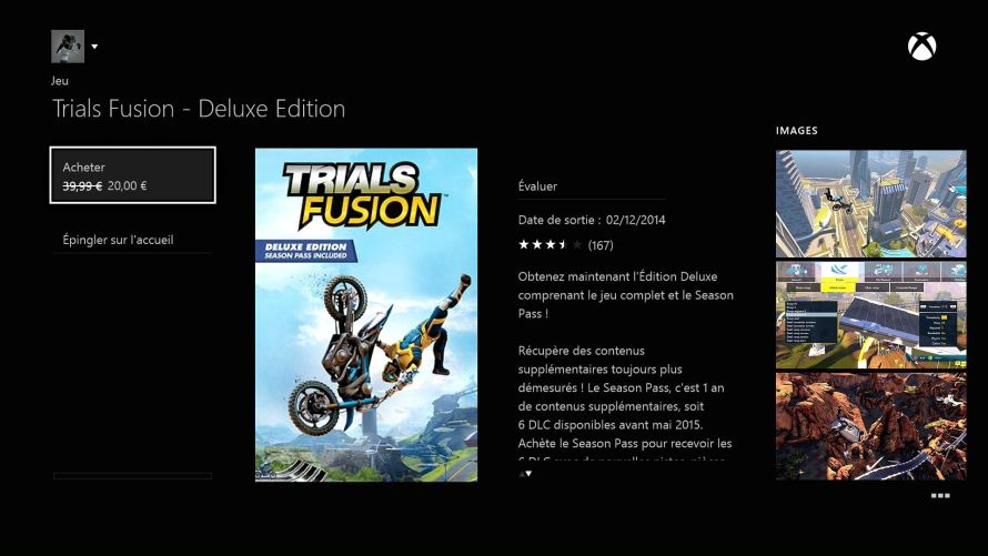 Réduction Trials Fusion Xbox Live