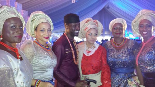 Abiola Omoyola, Peter Okoye, wife Lola Omotayo-Okoye, Fisayo Olayinka & friends
