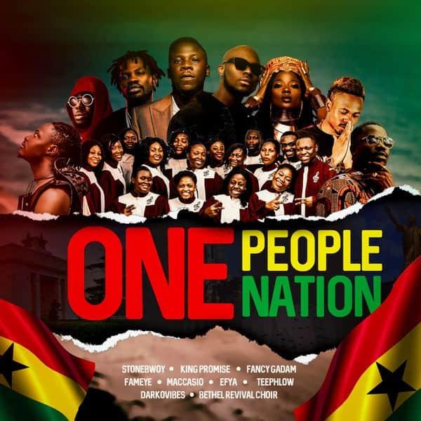 Stonebwoy – One People One Nation Ft. King Promise, Efya, Darkovibes, Fancy Gadam, Fameye, Maccasio, Teephlow, Bethel Revival Choir