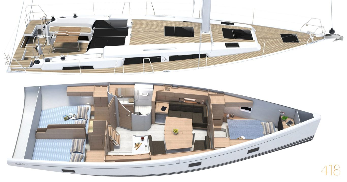 Hanse 418 Cool Breeze layout
