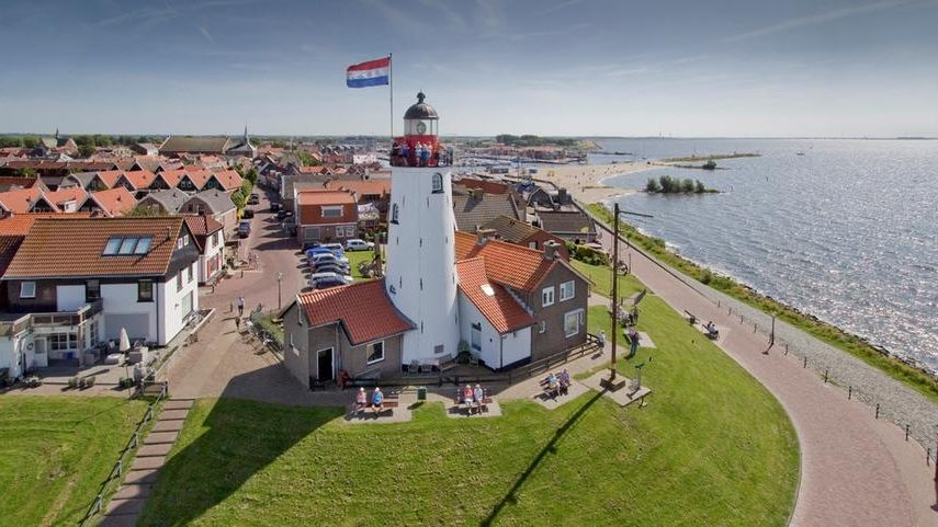Fisherman village Urk with Lighthouse