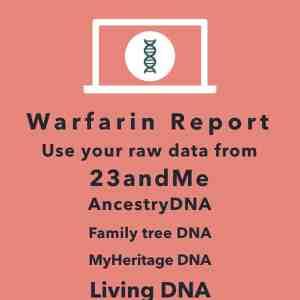 23andme warfarin metabolism analysis