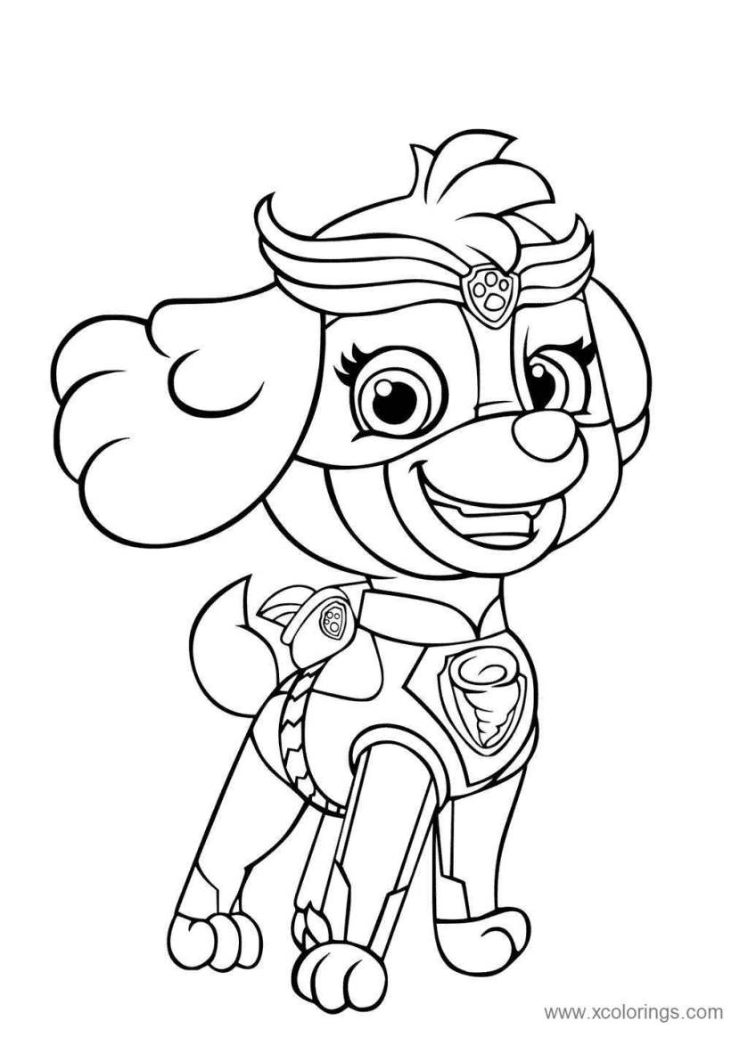 super pups mighty pups skye coloring pages  xcolorings