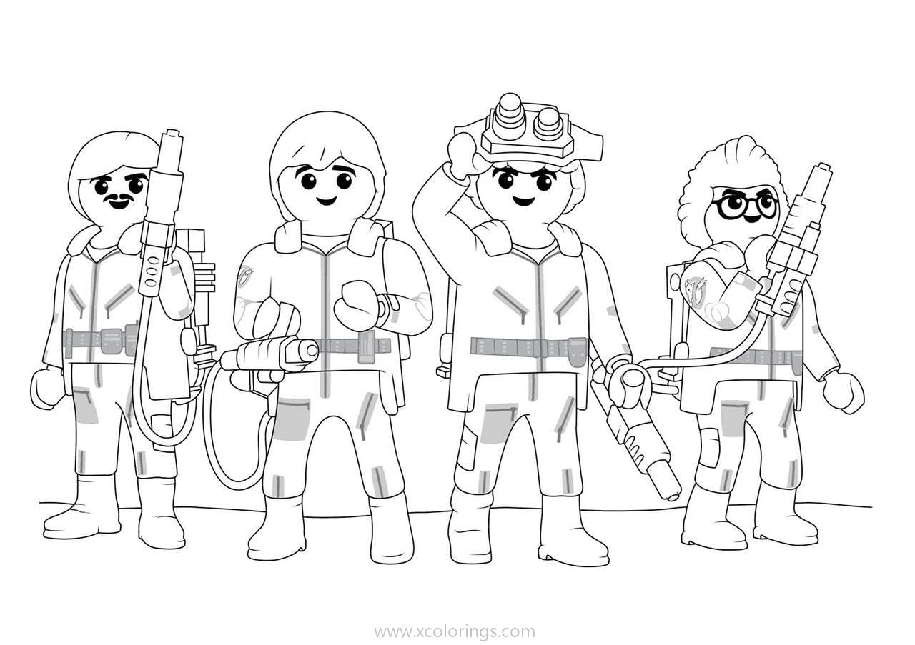 Playmobil Ghostbusters Coloring Pages Xcolorings Com