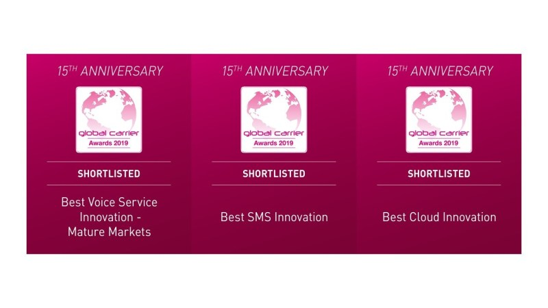 XConnect shortlisted for three Capacity Europe Global Carriers Awards: Best Cloud Innovation, Best SMS Innovation, and Best Voice Service Innovation - Mature Market