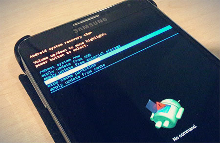 Android Recovery Mode Menu