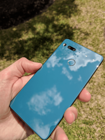 Essential Phone with ceramic back