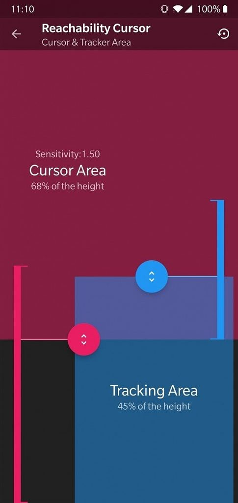 Reachability Cursor - Use Your Tall Android Smartphone with One Hand