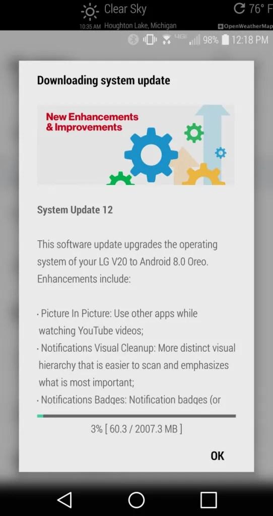 v20 oreo update