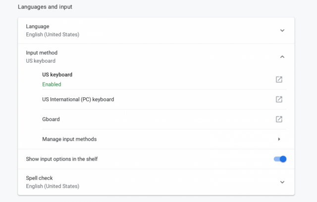 Chrome OS Gboard support