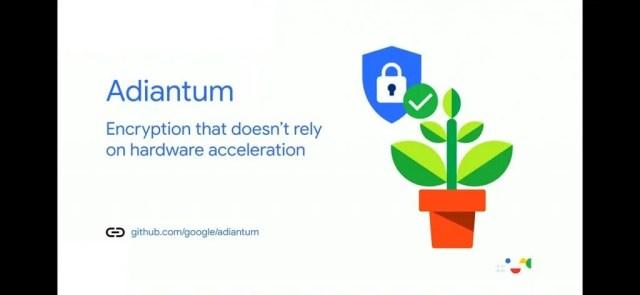 Adiantum encryption