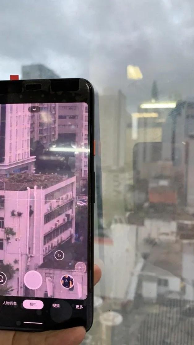 Google Pixel 4 XL 8X zoom camera