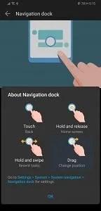EMUI 9 and Magic UI 2 navigation dock
