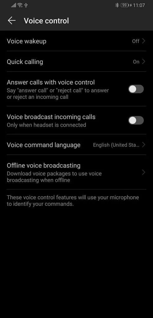 EMUI 9 and Magic UI 2 voice control
