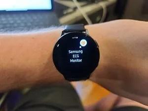 Samsung Galaxy Watch Active 2 ECG monitoring