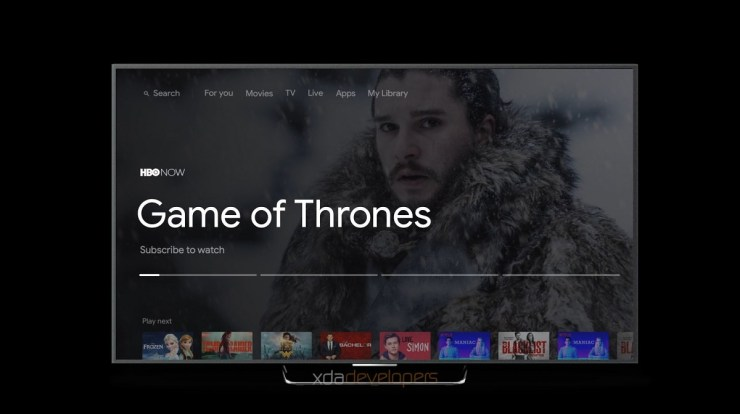 Google's new Android TV UI