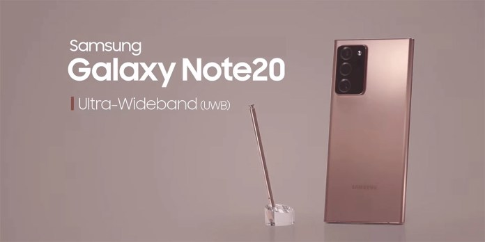 The Samsung Galaxy Note 20 Ultra features NXP's NFC, eSIM, and UWB tech