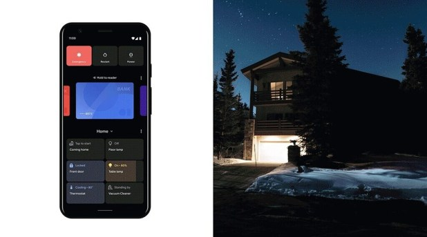 Android 11 power menu smart home device control