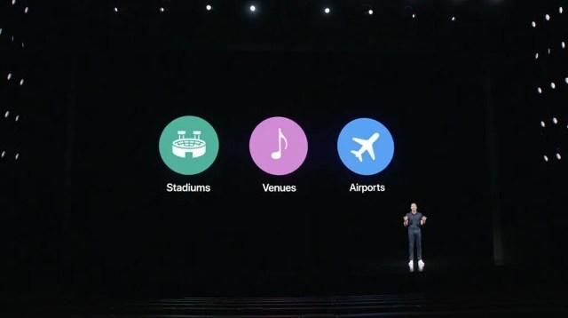 İPhone 12 5G lansmanında sahnede Verizon 5G Ultra geniş bant konumları