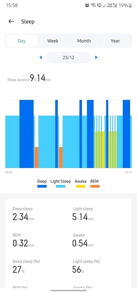 Realme Link app sleep monitoring