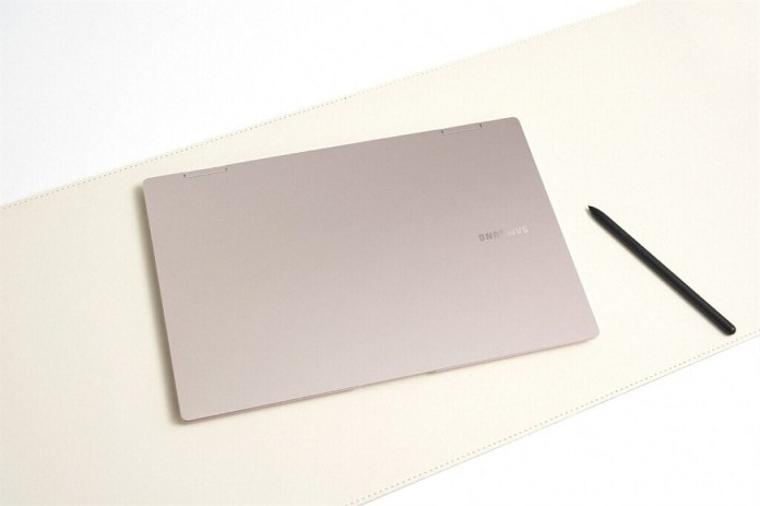 Samsung Galaxy Book Pro 360 closed with pen