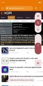 Android 12 Beta 1 volume panel