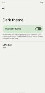 Android 12 Beta 2 dark theme setting