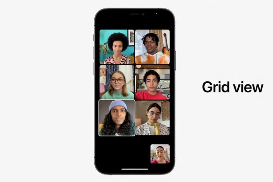 Apple WWDC 2021 Facetime grid view