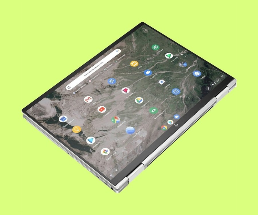 tablet mode of the HP Elite c1030 Chromebook