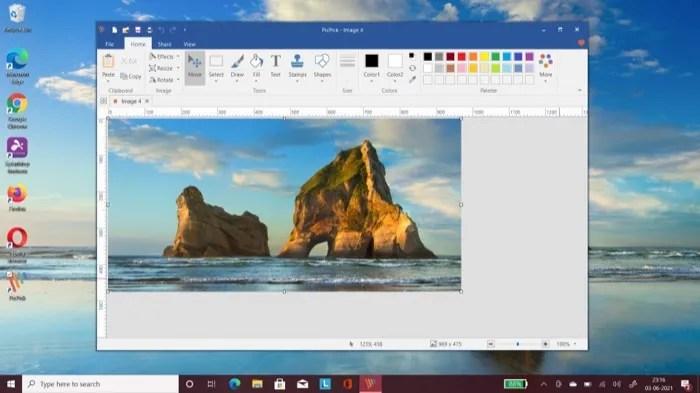 Screenshot UI on PicPick