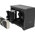 Cooler Master MasterBox NR200P Max without side panel and with GPU being inserted