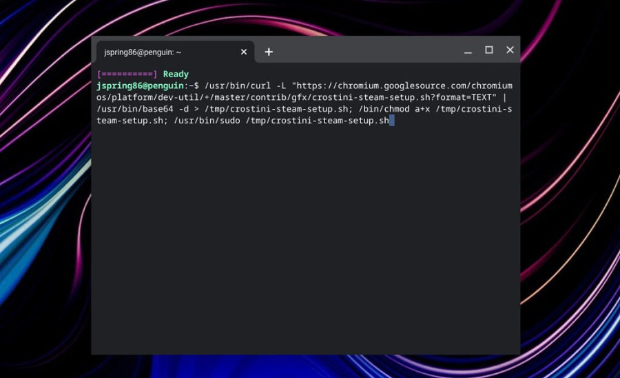 Steam command for installation