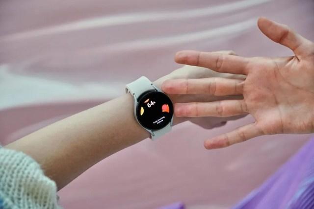 Samsung Galaxy Watch 4 on wrist