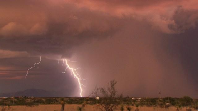 Evening thunderstorm in Tucson, Arizona