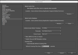 Premiere-Media-Cache-300x215 Edit with Premiere and disappearing disc space.