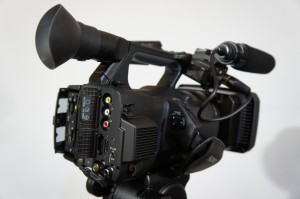 The right side of the PXW-Z100.