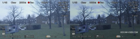 VF-side-by-side Cine-EI Mode when recording S-Log2/3 and raw on the F5 and F55.