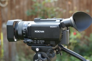 PXW-X70 without the top handle fitted.