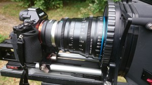 Another view of the 50mm Schneider Xenon FF lens.
